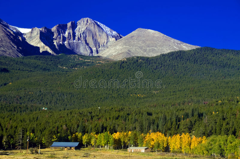 Longs Peak in Autumn royalty free stock images