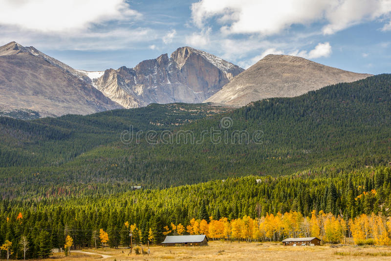 Longs Peak in the Rocky Mountains. National Park, Wyoming, USA stock photo