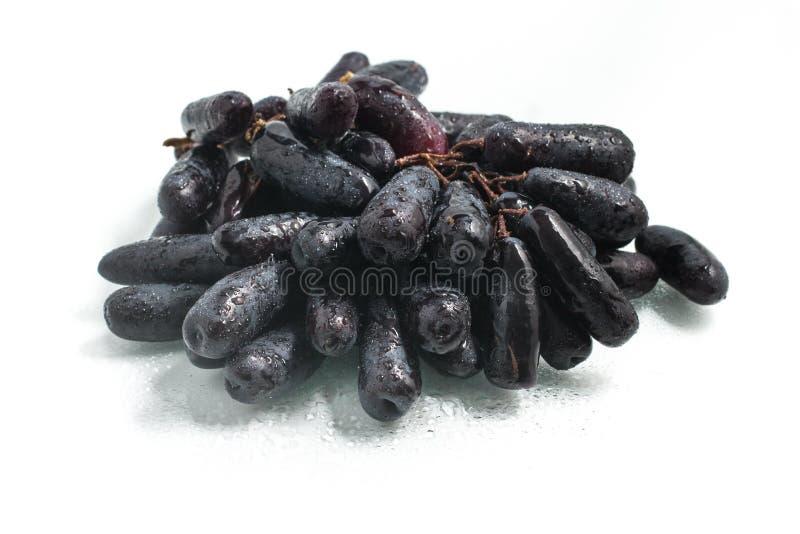 Longs raisins noirs de minuit photographie stock