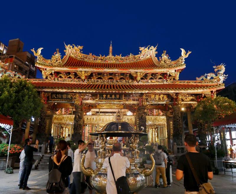 Longshan tempel av Manka, Taipei, Taiwan arkivfoto