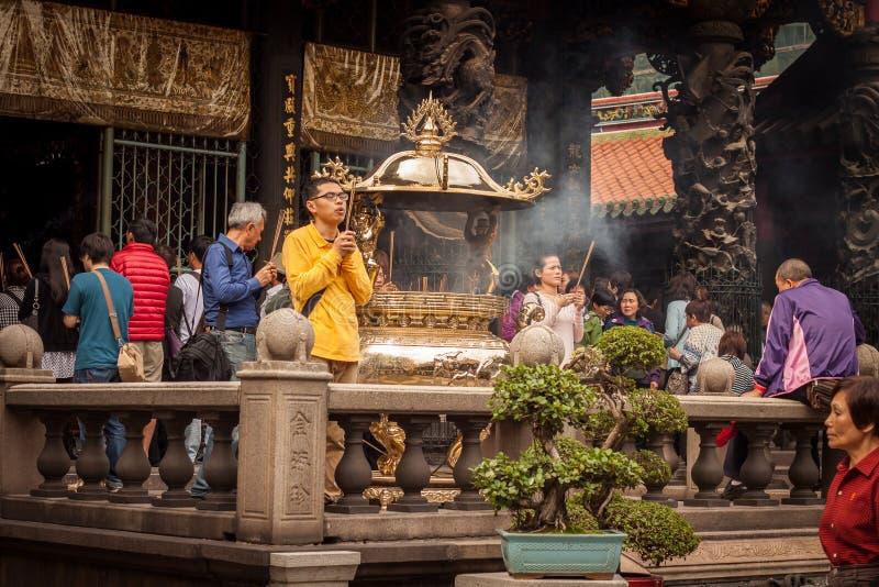 Longshan Temple imagen de archivo