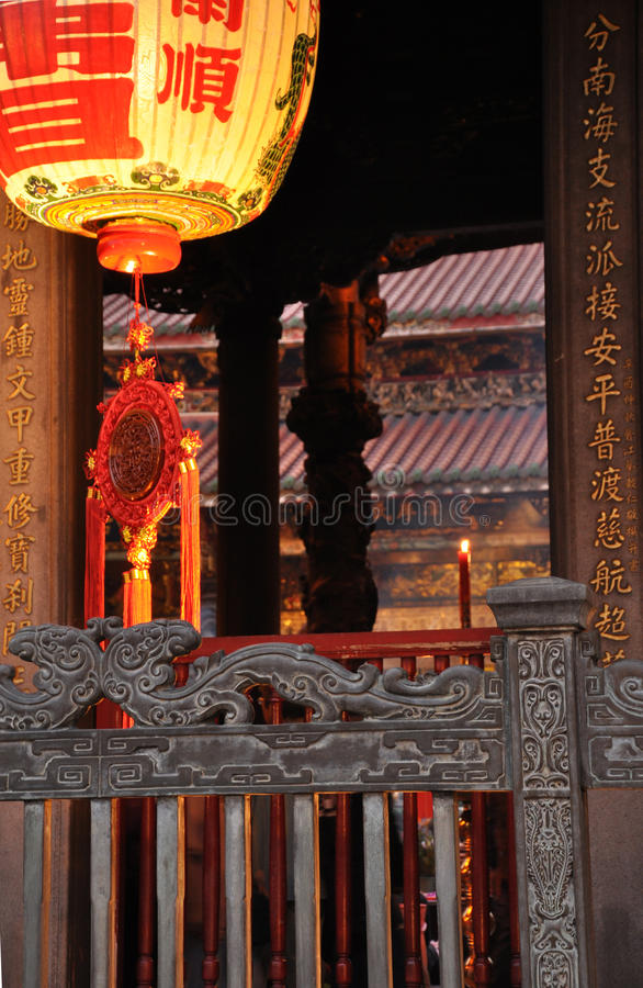 Longshan temple detail. Taipei, Taiwan stock photos