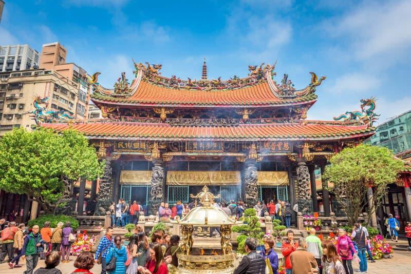 Longshan Temple Taiwan fotografia stock libera da diritti