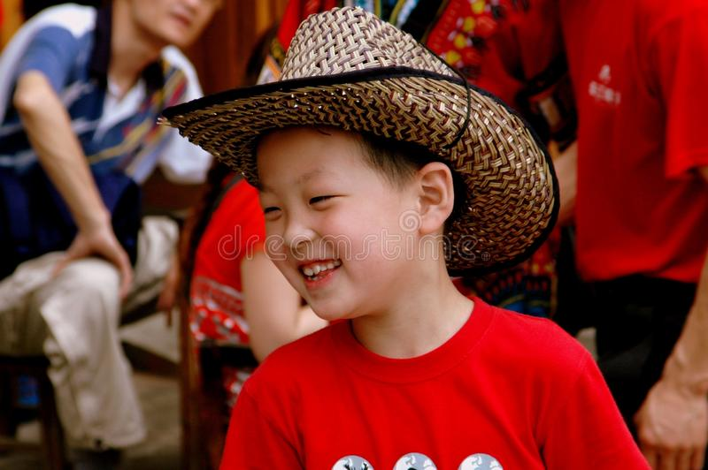 Download Longsheng, China: Smiling Boy With Cowboy Hat Editorial Photography - Image: 26511842