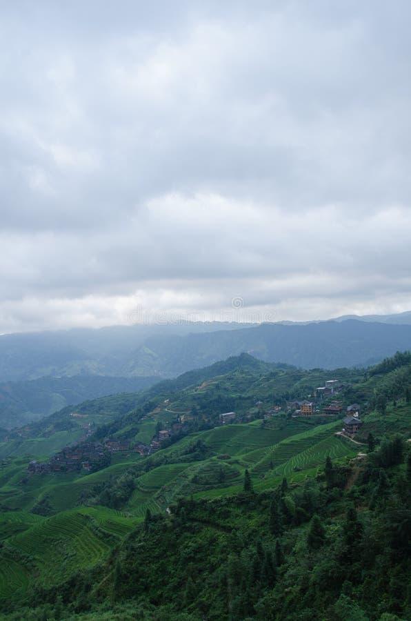 Longsheng län av för Longji för Guangxi landskapkines sceniskt område terrass arkivfoto