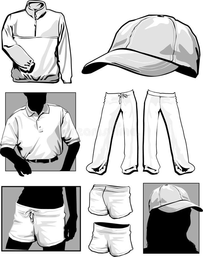 longsleeve μπλούζες πουκάμισων διανυσματική απεικόνιση