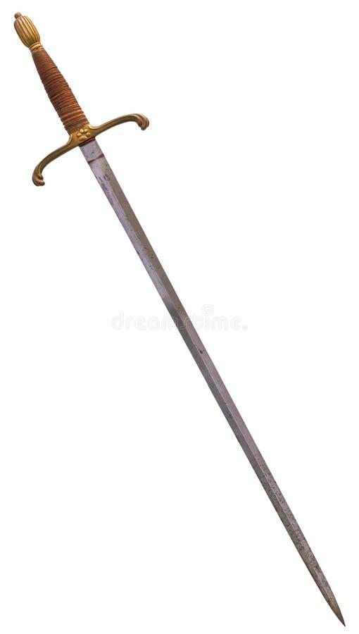 Longsword medieval imagens de stock