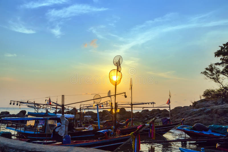 Longtail渔船 图库摄影