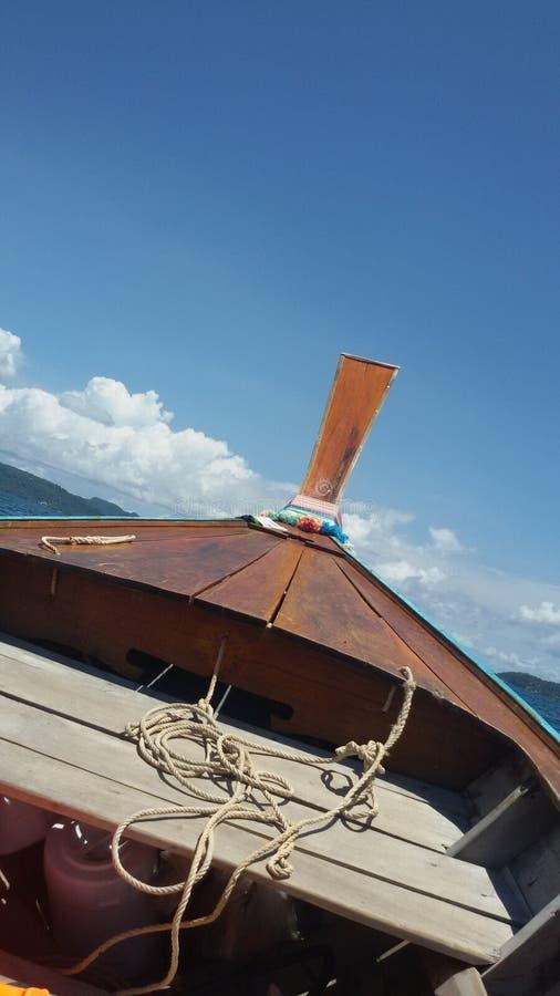 Longtail łódź fotografia royalty free