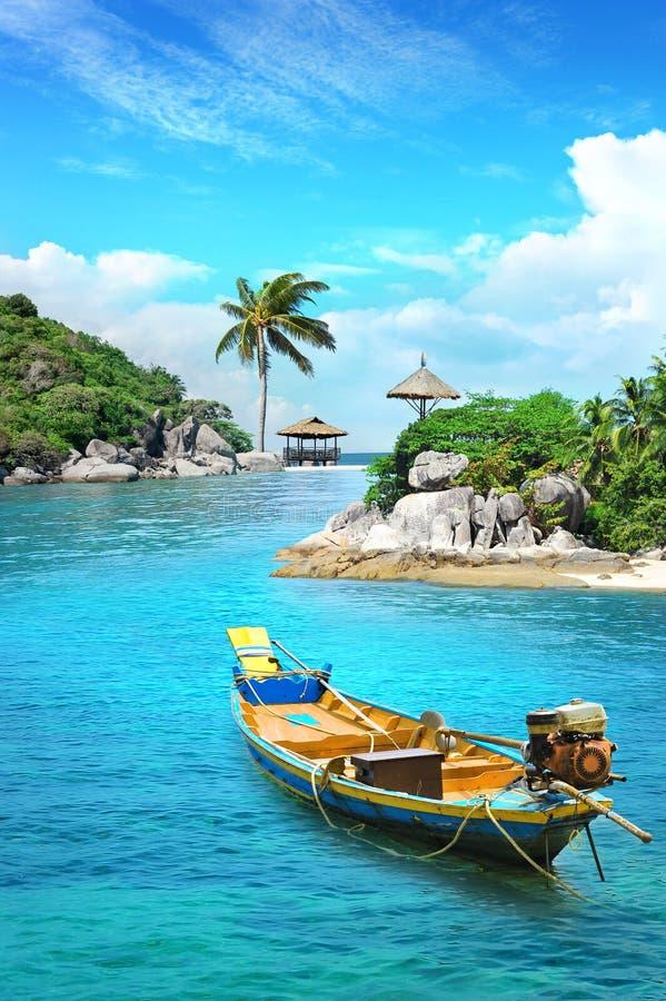 Longtail łódź w raju obrazy royalty free