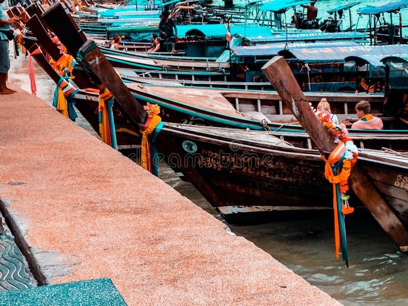 Longtail łodzie obrazy royalty free