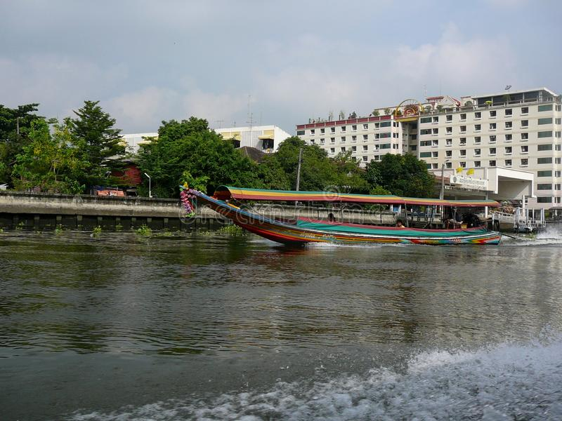 Longtail Boat on the Chao Phraya River royalty free stock images