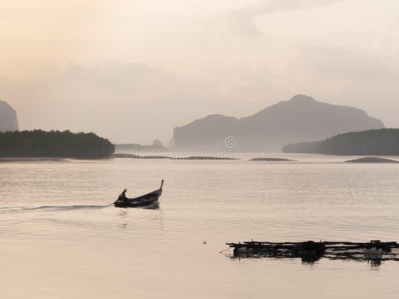 Longtail Boat at Samchong-tai, Phang, Thailand. royalty free stock image