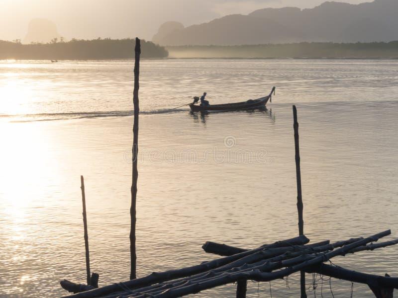Longtail Boat at Samchong-tai, Phang, Thailand. stock images
