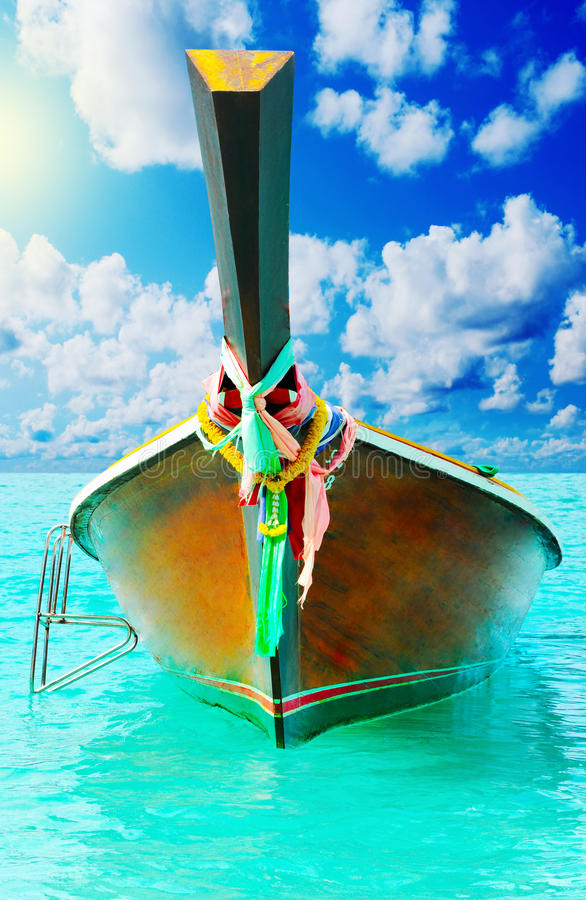 Download Longtail Boat On The Sea Tropical Beach Stock Image - Image: 29037737