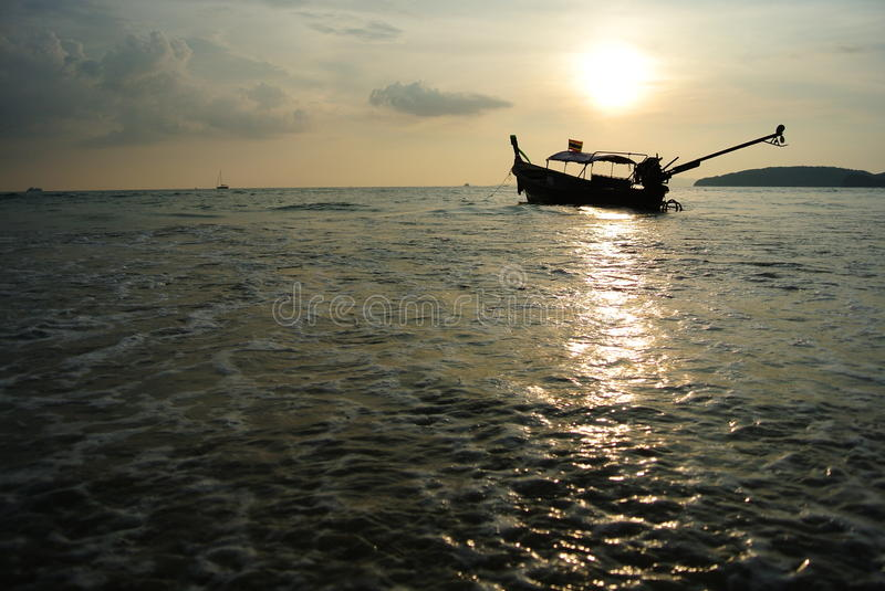 Download Longtail boat and sunset stock photo. Image of andaman - 22169372