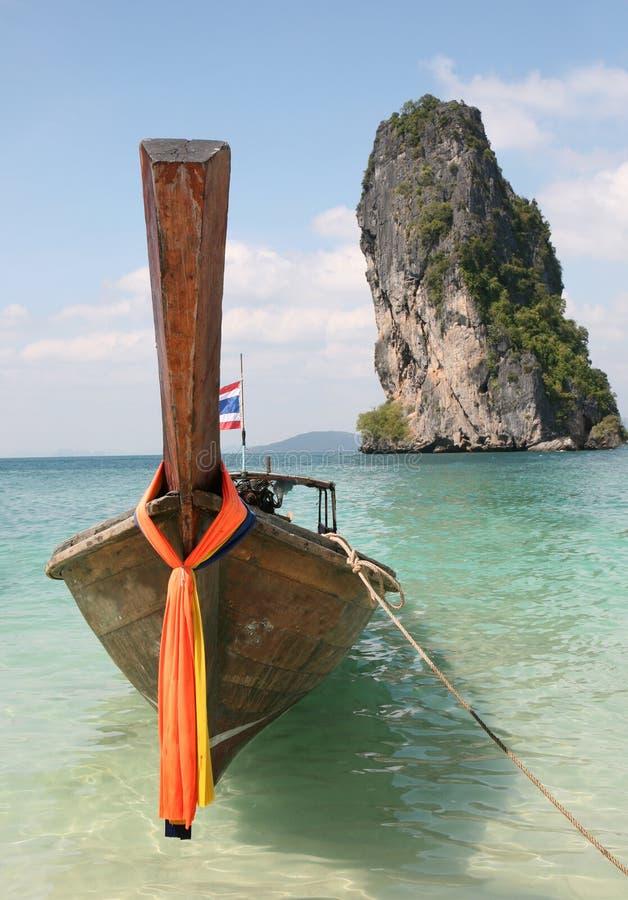 longtail de bateau image libre de droits