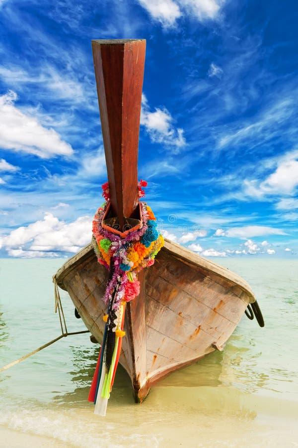Longtail, el barco tailandés tradicional imagen de archivo libre de regalías
