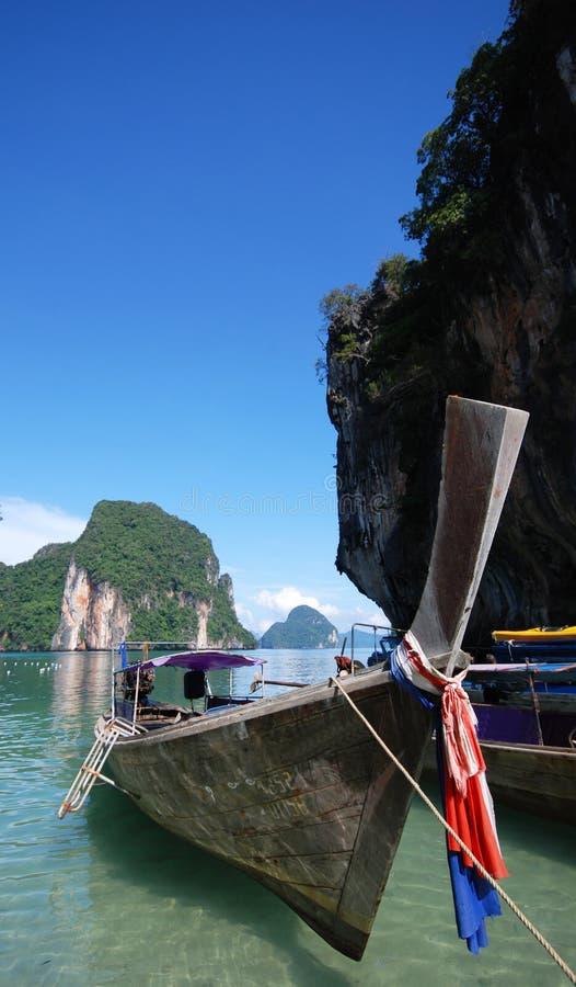 Longtail Fartyg I Thailand Royaltyfria Bilder