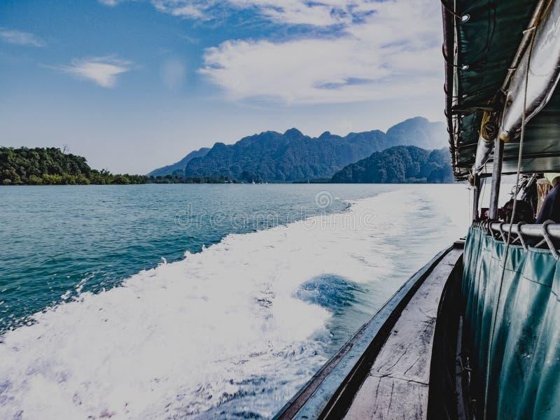 Longtail fartygritt royaltyfri fotografi