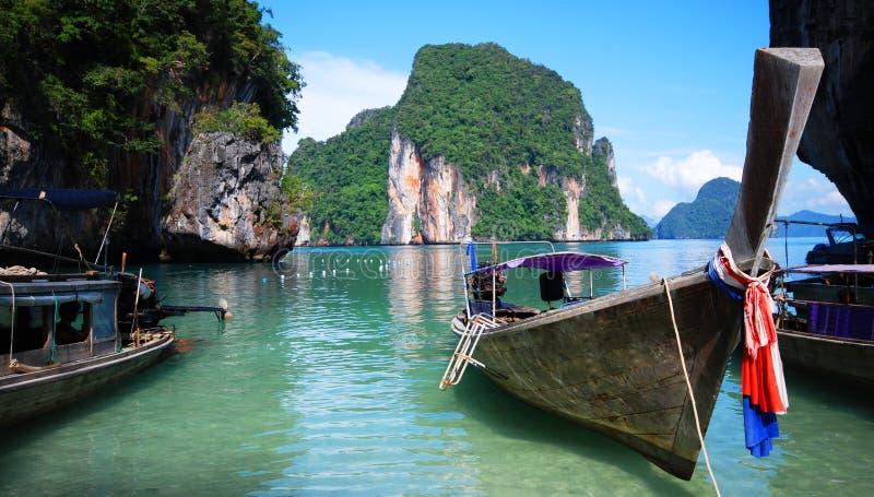 Longtailboten In Thailand Stock Foto