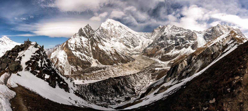 Longtang mountain top view stock image