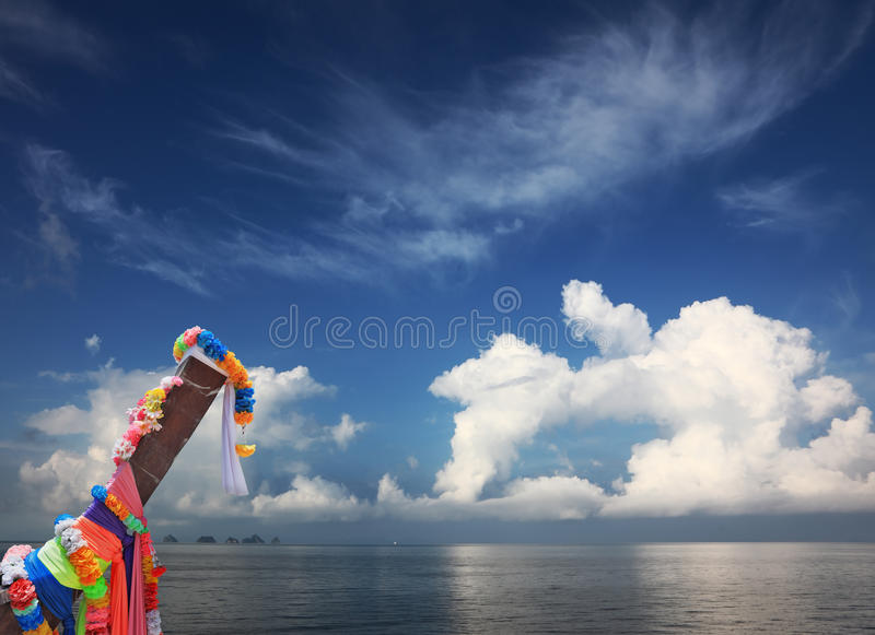 Download Longtayl Boat And Fancy Cloud Stock Image - Image: 20898565