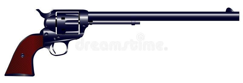 Longue arme à feu du baril six illustration libre de droits
