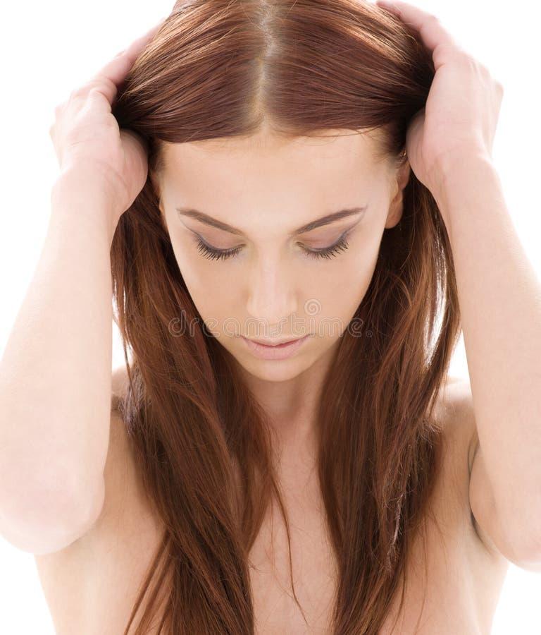Longue beauté de cheveu photographie stock libre de droits