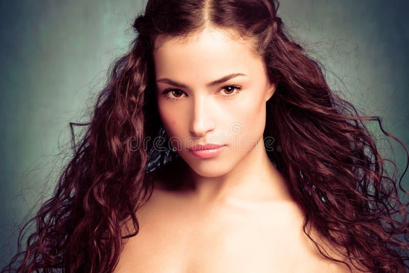 Longue beauté de cheveu photographie stock