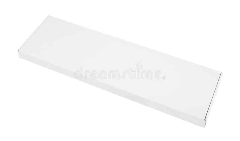Longue boîte de livre blanc photo libre de droits