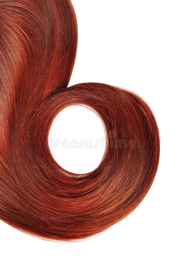 Longue coiffure rouge photo stock