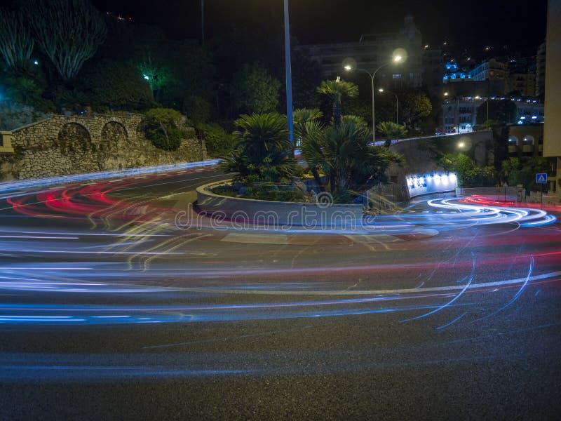 Longue courbure d'épingle à cheveux de Loews de tir d'exposition, Monaco photo libre de droits