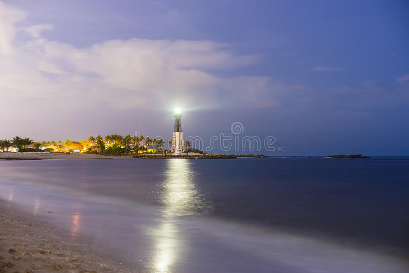 Longue exposition de phare image stock