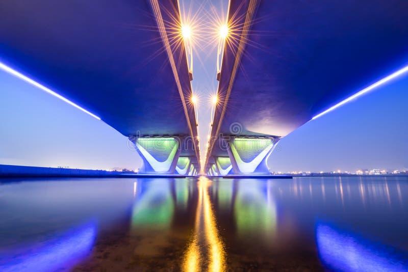 Longue exposition de pont de Garhoud de dessous photos libres de droits
