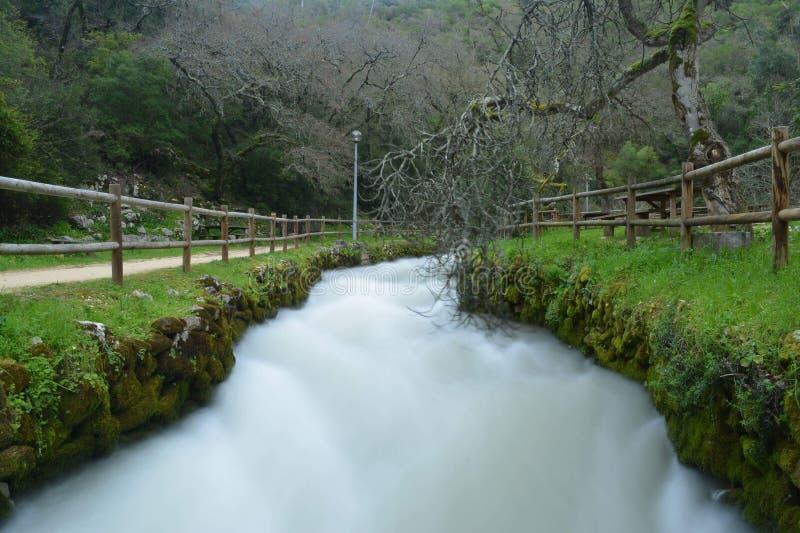 Longue exposition en rivière image stock