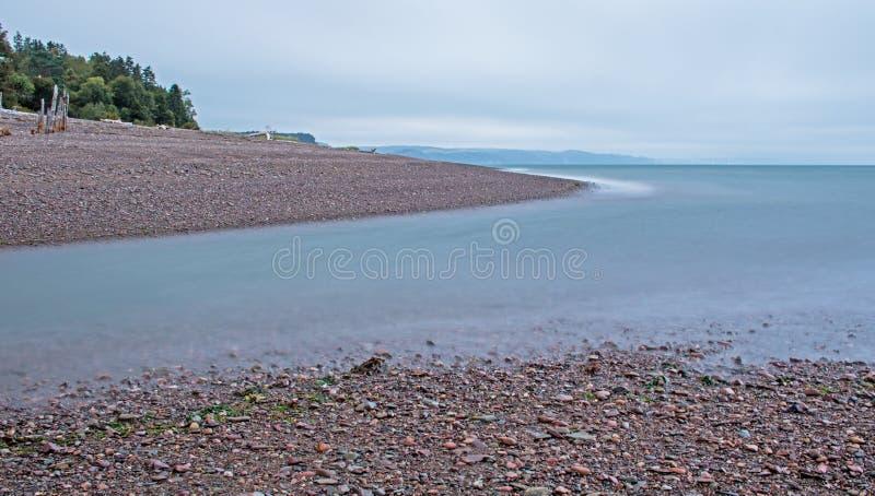 Longue exposition Shoreline à l'île du ` s de Spencer, Nova Scotia images libres de droits