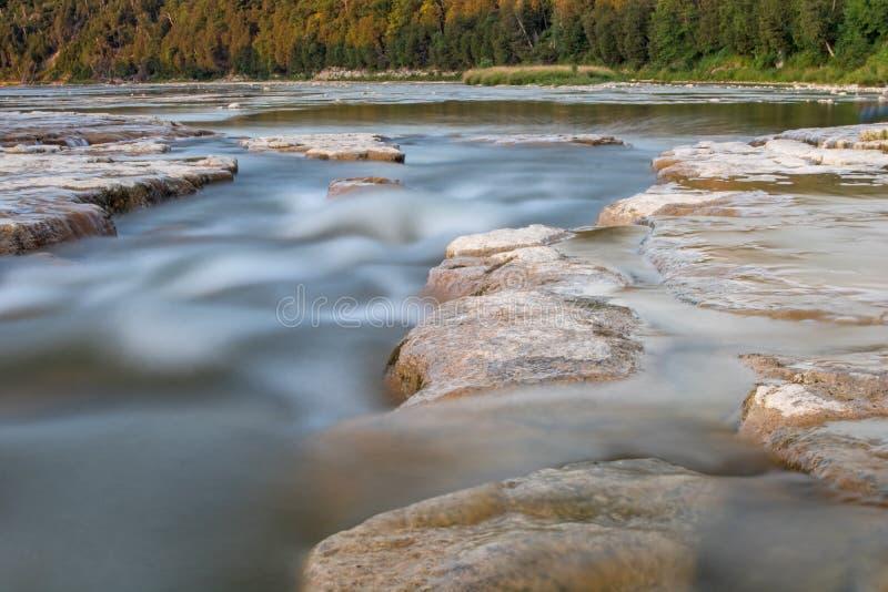 Longue exposition sur Maitland River photo stock