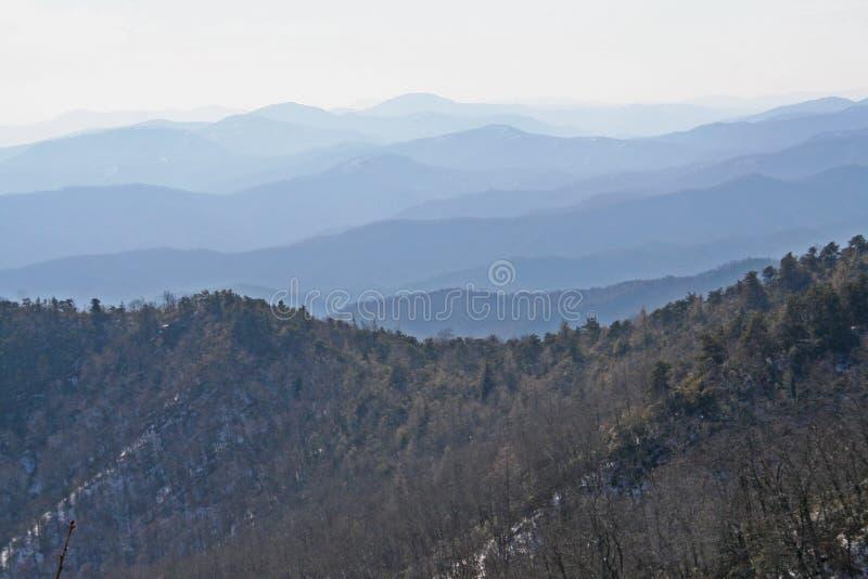 Longue gamme de montagne à Asheville la Caroline du Nord photographie stock