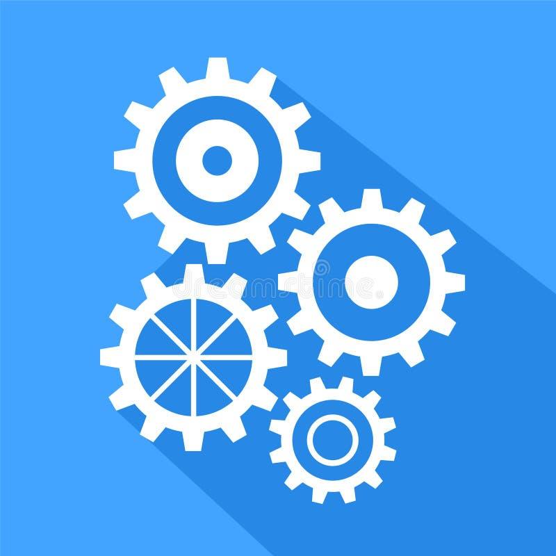 Longue icône plate d'ombre des vitesses, illustration courante de vecteur illustration stock