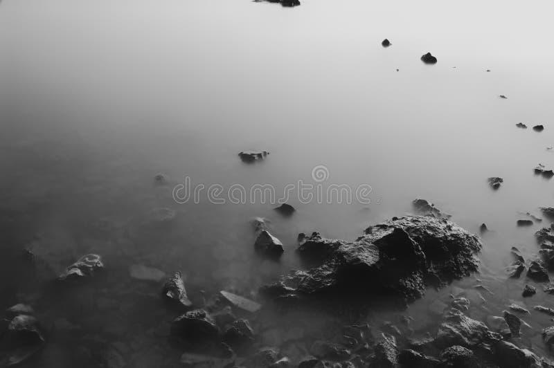 Longue mer d'exposition photographie stock libre de droits