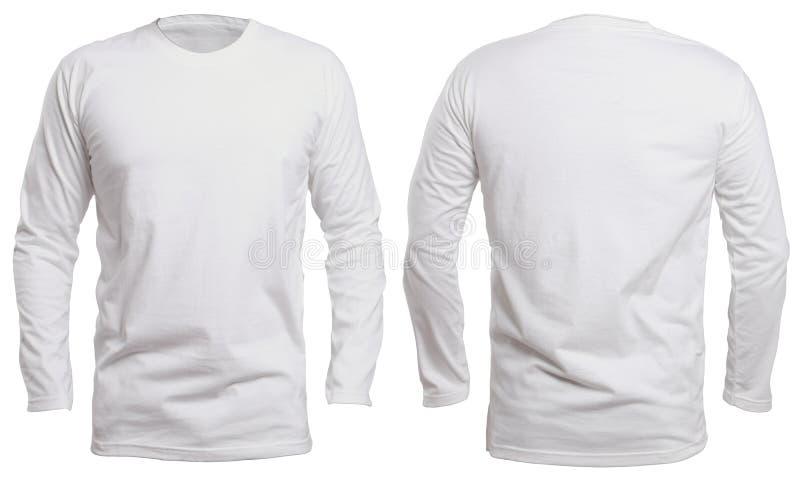 Longue moquerie blanche de chemise de douille  photos stock