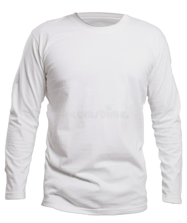 Longue moquerie blanche de chemise de douille  photo libre de droits