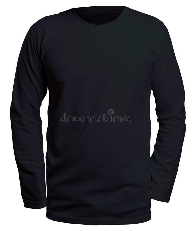 Longue moquerie noire de chemise de douille  photo stock