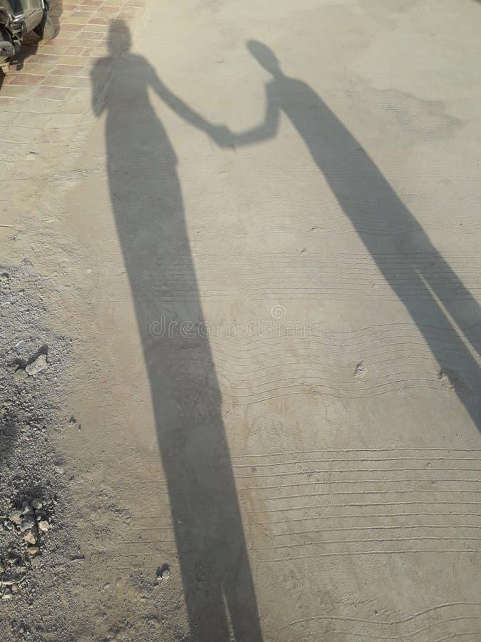 Longue ombre photo stock