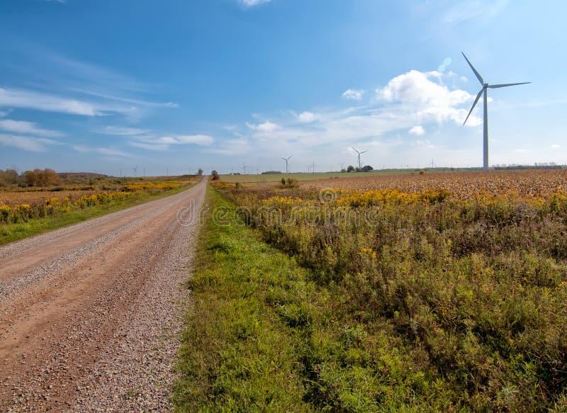 Longue route à l'énergie soutenable images stock