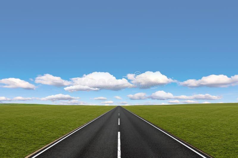 Longue route image libre de droits