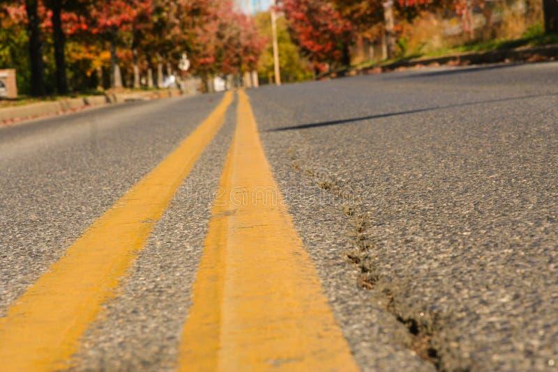 Longue route en avant photographie stock libre de droits
