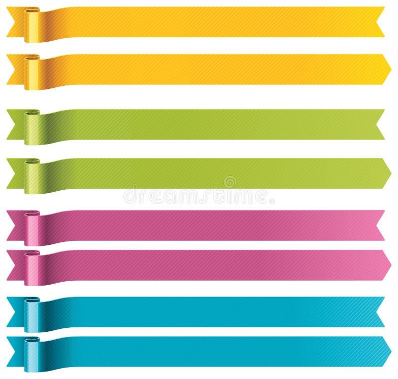 Longues bandes de vecteur illustration stock