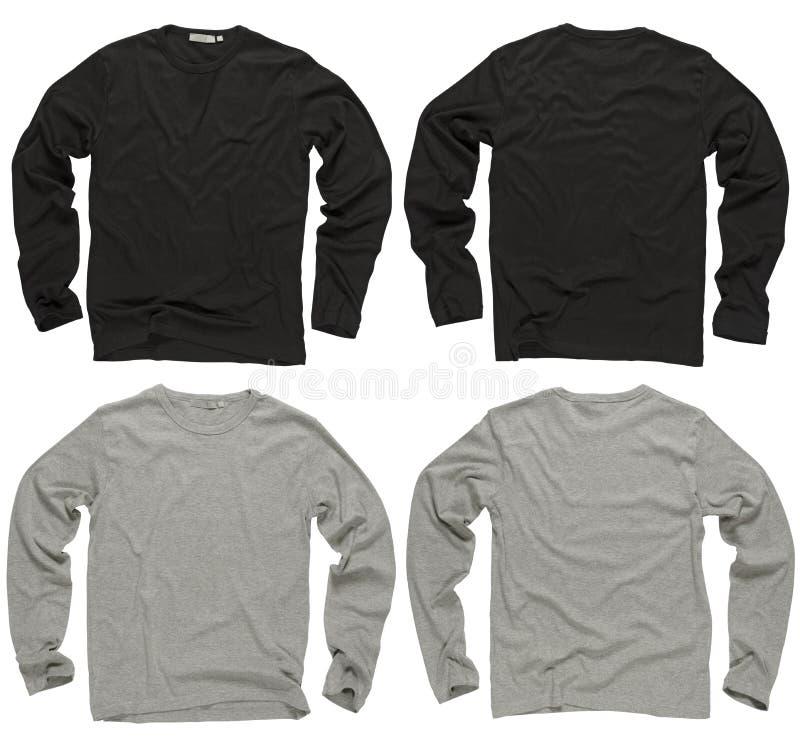 Longues chemises noires et grises blanc de chemise photos libres de droits